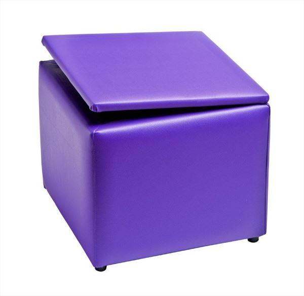Pouff cuadrado abatible con patas redondas de pvc sus for Puff cuadrados