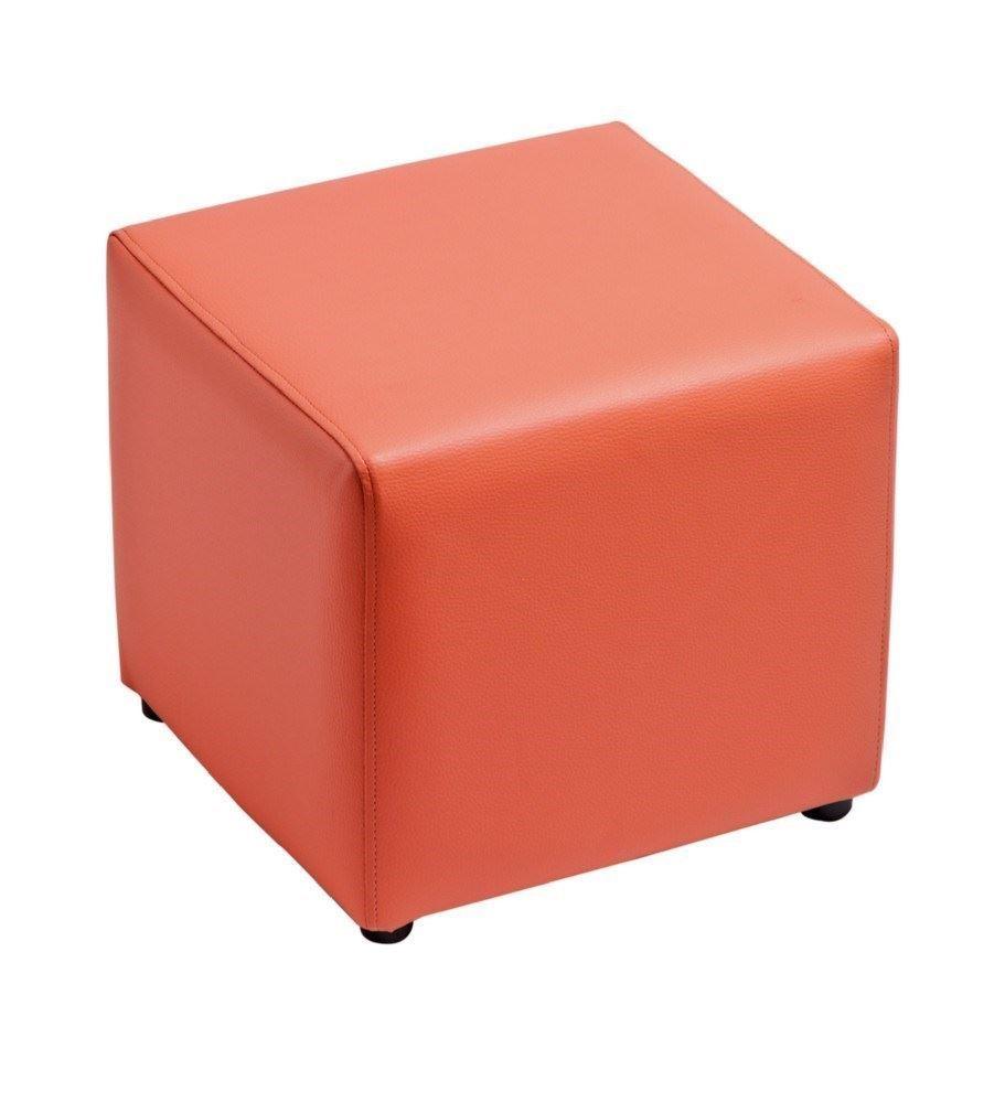 Pouff cuadrado fijo con patas redondas de pvc sus for Puff cuadrados
