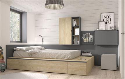 Dormitorios Juveniles De Calidad.Dormitorio Juvenil Cama Doble Compactos Juveniles Mueble Juvenil